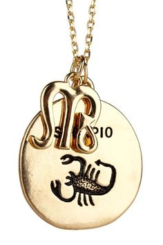 Scorpio zodiac sign necklace consists of an scorpio symbol metal scorpio pendant necklace by cross into summer mozeypictures Image collections