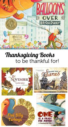 Thanksgiving books for the kids - recommendations from a children's librarian. (I forgot about Balloons over Broadway being a Thanksgiving book. Thanksgiving Books, Thanksgiving Preschool, Fall Books, Thanksgiving Traditions, Thanksgiving Decorations, Library Lessons, Library Books, Library Cards, Kid Books