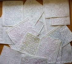 Do this soon! You have to start somewhere if you want to learn to machine quilt. Studio Snapshots | Building a Sampler Book for Free Motion Quilting Motifs by Jeanne Miller