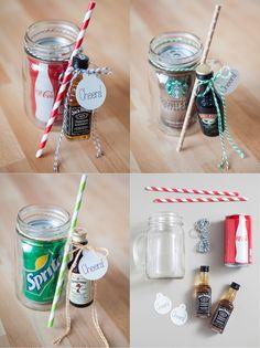 mason jar cocktail gifts.