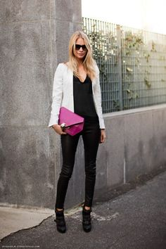 We love black and white with a pop of color for Spring!