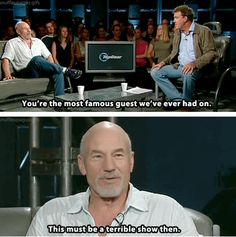 Patrick Stewart and Top Gear combined!