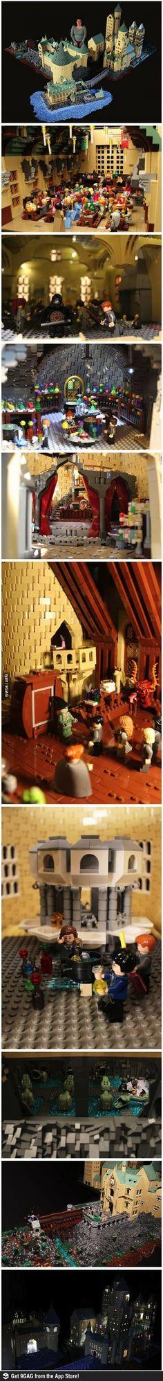 1 year, 400,000 legos ~ a full Hogwarts Replica @Amalia Fotini