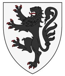 Coat of Arms of Mircea the Elder (from Wappenwiki) Sword Logo, Lion, Mystery Of History, Wolf Howling, Family Crest, Celtic Designs, Crests, Illustrations And Posters, Coat Of Arms