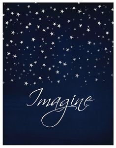 IMAGINE  Inspirational Print Wall Art Quote John by 7WondersDesign, $22.00