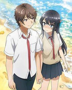Seishun Buta Yarou wa Bunny Girl Senpai no Yume wo Minai Couple Amour Anime, Manga Couple, Anime Love Couple, Manga Kawaii, Kawaii Anime Girl, Anime Girls, Couples Anime, Cute Couples, Otaku Anime