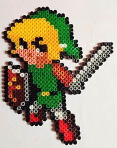 LoZ Link perler beads by Nathan Tardy