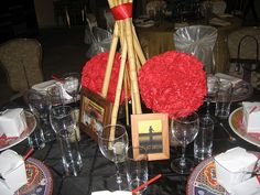 chinese new year party.  table decor.