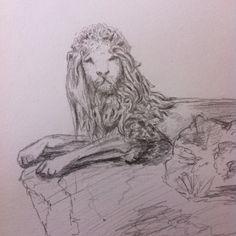 Venetian lion - pencil drawing