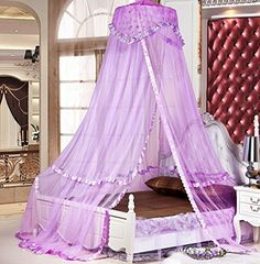"#shopping Romantic round canopy,nice decoration for bedroom,toddler room and weddings in any season * Size:top #diameter 75cm(30""), fit for 1m,1.2m,1.5m,1.8m bed..."