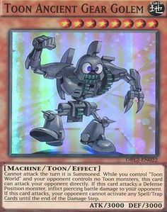 Deckboosters YuGiOh : DRL2-EN022 1st Ed Toon Ancient Gear Golem Super Rare Card - ( Dragons of Legend 2 Yu-Gi-Oh! All Deckboosters single cards are brand new in mint condition taken straight from the pack and are supplied in a professional storage/presentation case providing an ideal (Barcode EAN = 5051502194785) http://www.comparestoreprices.co.uk/latest2/deckboosters-yugioh-drl2-en022-1st-ed-toon-ancient-gear-golem-super-rare-card---dragons-of-legend-2-yu-gi-oh!.asp