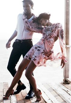 "A$AP Rocky & Chanel Iman in ""The Dance of Seduction"" for US Vogue September 2014, ph. by Mikael Jansson."