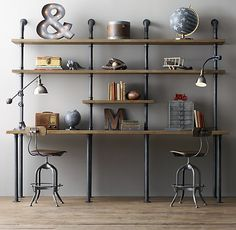 Tips for Making a DIY Industrial Pipe Shelving Unit - DIY Show Off ™ - DIY Decorating and Home Improvement Blog