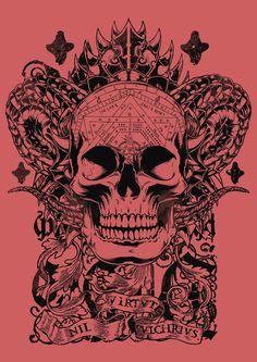 Cobra skull Art Print by Tshirt-Factory
