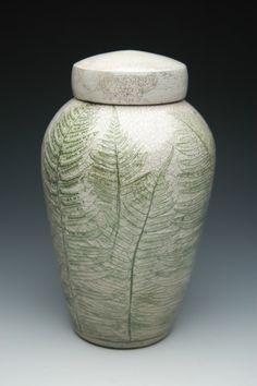 Urns Northwest  - Fern Raku Ceramic Cremation Urn, $299.00 (http://urnsnw.com/fern-raku-ceramic-cremation-urn/)