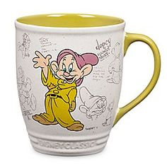 Dopey Mug - Disney Classics Collection | Disney StoreDopey Mug - Disney Classics Collection - You'll be a lot less Dopey tomorrow morning after a silent sip from this classic cup displaying authentic animation art from Walt Disney's <i>Snow White and the Seven Dwarfs</i>.