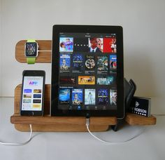 Apple Watch Stand Docking Stations Charging Station iWatch Wood Desk organizer…
