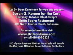 Dr. Dean Kane, Sotta Sopra, Susan G. Komen Charity Dinner  October 8, 2009