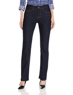 NYDJ Women's Petite Marilyn Straight Jeans In Premium Lightweight Denim *** CONTINUE @ http://www.eveningdressesoutlet.com/store/nydj-womens-petite-marilyn-straight-jeans-in-premium-lightweight-denim/?b=9866