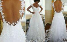 1000 images about dress ideas on pinterest david tutera for Low cut back wedding dress
