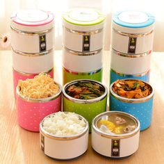 ceb94ed6469 1x Stainless Steel Lunch Box Insulation Bento Thermo Thermal Lunch Box Food  Picnic Container 1 3 Layers-in Dinnerware Sets from Home   Garden on ...