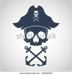 Pirate logo - stock vector