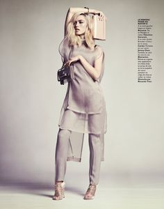 [I WOULD WEAR THIS IN A HEARTBEAT!] CORA KEEGAN SPORTS NEUTRAL SHADES FOR GRAZIA FRANCE BY HONER AKRAWI