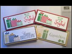 Gift card holder. Stampin Up your presents stamp set. joyful season. envelope punch board