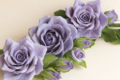 Hey, I found this really awesome Etsy listing at https://www.etsy.com/listing/178842411/hair-clip-polymer-clay-flower-periwinkle