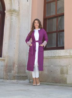 Loose Jacket - Purple - ÂRÂ Zeynep Bilyay