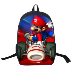 Children's 3D Super Mario School Backpack //Price: $35.60 & FREE Shipping // #handbag #awesome #bagsdesigns
