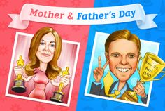 Photolamus will draw a caricature as a gift for Mother's or Father's Day.