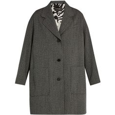Isabel Marant Jagger oversized wool-herringbone duster coat ($1,110) ❤ liked on Polyvore featuring outerwear, coats, grey, grey coat, single breasted wool coat, gray coat, woolen coat and wool duster coat
