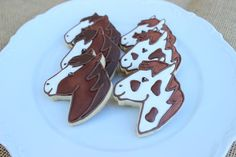 Horse Cookies by AuntieBeasBakery on Etsy Fancy Cookies, Iced Cookies, Cut Out Cookies, Cute Cookies, Cupcake Cookies, Sugar Cookies, Cupcakes, Horse Cake, Horse Horse