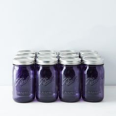 Purple Ball American Heritage Collection Quart Mason Jars (Set of Quart Mason Jars, Canning Jars, Purple Mason Jars, Jar Design, Ball Jars, Gadgets And Gizmos, Color Of The Year, Food 52, My Favorite Color