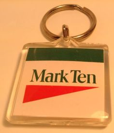 Vintage Cigarette Brand Keychain MARK TEN Ancien Porte-Clés Marque Tabac TOBACO