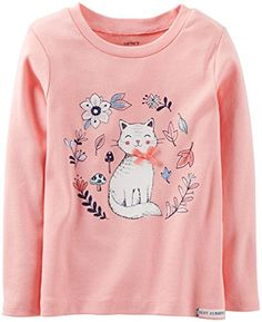 Carters Flower Tee Baby  Peach6 Months >>> Continue to the product at the image link.