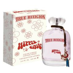 True Religion Hippie Chic Eau De Parfum Spray for Women, 3.4 Ounce by True Religion. $31.21. Intoxicating and addictive, notes include bright fruits, airy florals and sheer musks for a trail of sensuality.. Like the rise of the sun or the bloom of a flower, Hippie Chic leaves a lasting sense of wonderment. Capturing the greatest of nature's gifts by embracing a soft floral body, feminine fruity undertones, and a sensual sheer musk base.. Playfulness and sexiness intertwined...
