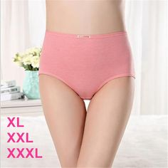 #612 New Arrival Women Underwear Plus Size XL XXL XXXL Panties Women E – modlilj Briefs, Pink Purple, Blue Grey, Bikinis, Swimwear, Underwear, Plus Size, Neck Massage, Cotton