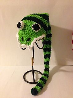 Silly Snake Hat Pattern by Gramma Beans. Paid Pattern.