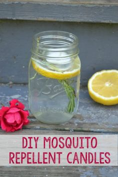How to make a quick and easy DIY mosquito repelling candle, You'll need these for your outdoor spaces or garden area sooner than you think. Outdoor Fun, Outdoor Spaces, Outdoor Entertaining, Outdoor Candles, Diy Mosquito Repellent, Insect Repellent, Solar Light Crafts, Cement Garden, Mosquitos