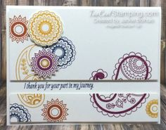 Stampin Up Paisley Framelit Dies And Pretty Paisley