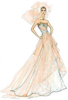 Wedding Dress Sketches, Dress Design Sketches, Fashion Design Drawings, Wedding Dresses, Wedding Dress Illustrations, Wedding Drawing, Dress Design Drawing, Sketch Design, Fashion Illustration Sketches