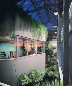 '80s interior with plants