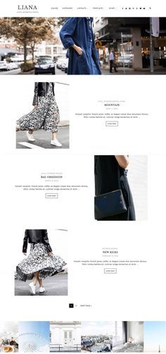 Liana - Wordpress theme by Eclair Designs on @creativemarket