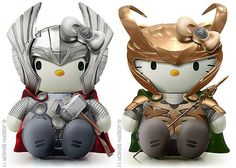 Oooh. Thorkitty and Lokitty. <3
