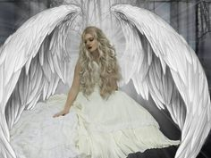 These are real angel wings, large enough to be beneath them and breathe the breath of angels