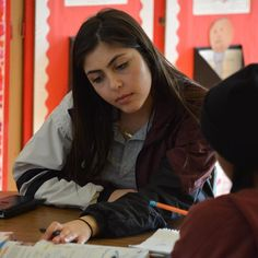 Diana is one of the group of our students who tutor children at Santa Rosa after school. #catholicschoolsweek