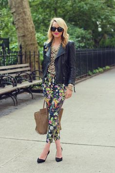 mix and match prints..and that bag again!