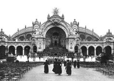 The Palace of Electricity at the Universal Exhibition of 1900, 1900 (b/w photo)